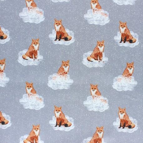 Tissu coton AGF Earthen - Foxnest Haze x 10cm