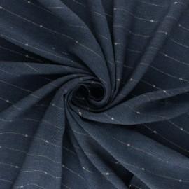 Tissu twill viscose lurex Emmy - denim x 10 cm