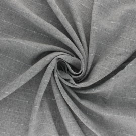 Lurex twill viscose fabric - grey Emmy x 10 cm