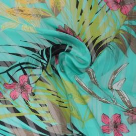Lurex Muslin fabric - green Amanda x 50cm