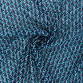Lurex Muslin fabric - blue/green Mahal x 50cm