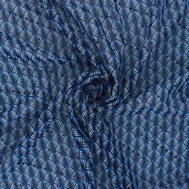Tissu Mousseline lurex Zanzibar - bleu x 50cm