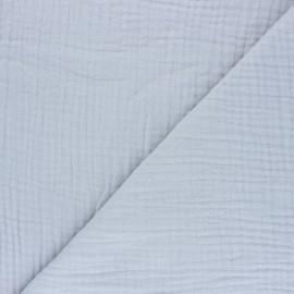 Tissu triple gaze de coton uni Sorbet - gris fumée x 10cm