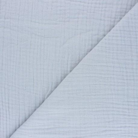 Plain Triple gauze fabric - Smoke grey Sorbet x 10cm