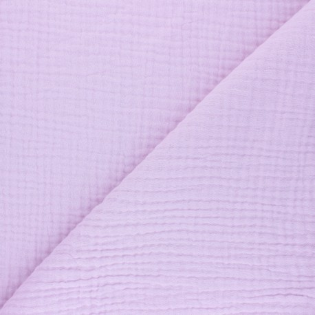 Plain Triple gauze fabric - lilac Sorbet x 10cm