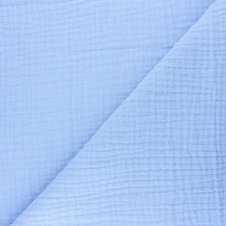 Plain Triple gauze fabric - light blue Sorbet x 10cm