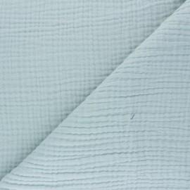 Tissu triple gaze de coton uni Sorbet - vert opaline x 10cm