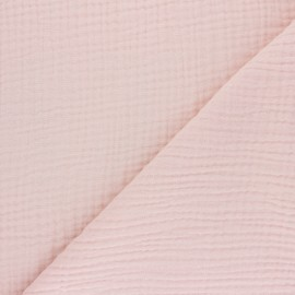 Plain Triple gauze fabric - peach Sorbet x 10cm