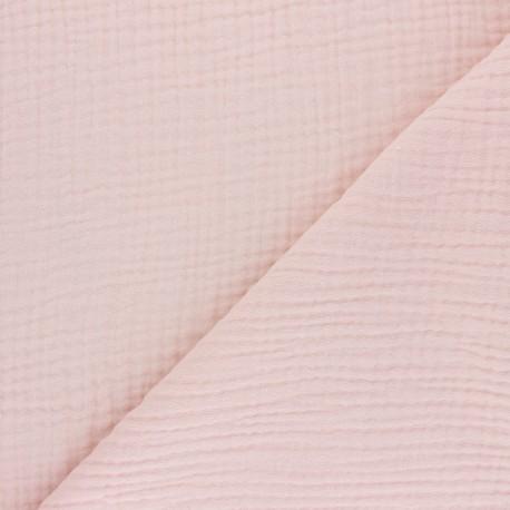 Plain Triple gauze fabric - peach Sorbet x 10cm