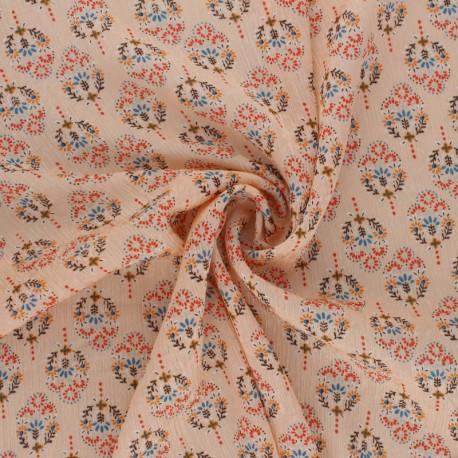 Tissu Mousseline Louane - Pêche x 50cm