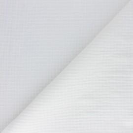 Tissu simple gaze nid d'abeille Ursule - écru x 10cm