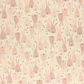 Cotton + Steel cotton fabric - Pink Dear Friend Love in The Air x 10cm