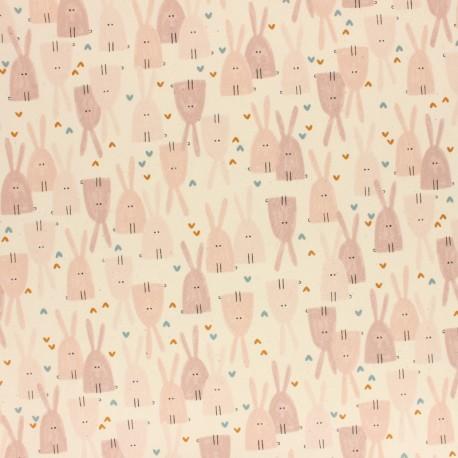 Tissu coton Cotton + Steel - Dear Friend - Love in the Air - rose x 10cm