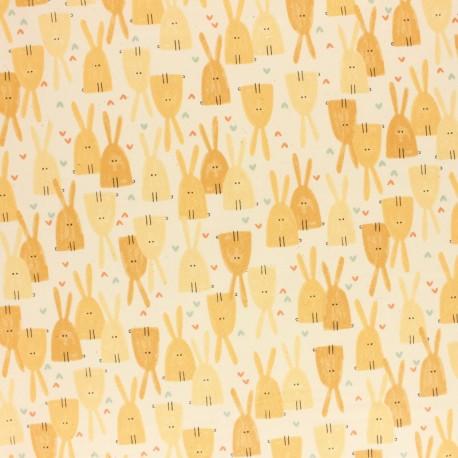 Tissu coton Cotton + Steel - Dear Friend - Love in the Air - jaune x 10cm
