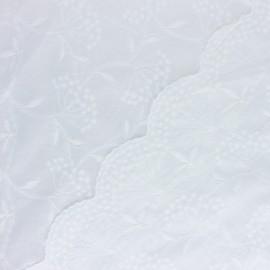 Tissu Voile de coton broderie anglaise Suzette - écru x 10cm