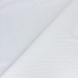 Cotton voile fabric - white Lynette x 10cm