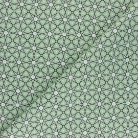 Tissu coton cretonne Persia - vert amande x 10cm