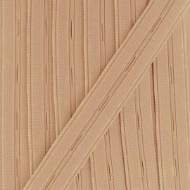 Elastique boutonnière chair Nylon 20mm