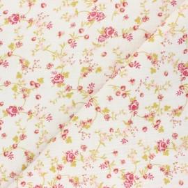 Double gauze cotton fabric - white Laly x 10cm