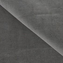 Tissu velours milleraies élasthanne havane x10cm