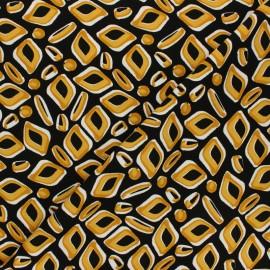 Tissu twill viscose Wild diamond - noir x 10 cm