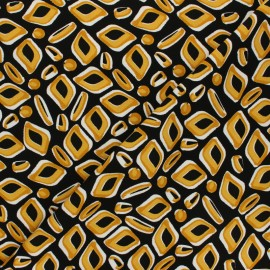 Twill viscose fabric - black Wild diamond x 10 cm
