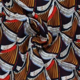 Tissu viscose Kemongo - rouge x 10 cm