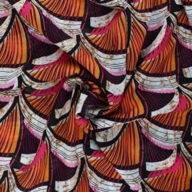 Tissu viscose Kemongo - fuchsia x 10 cm