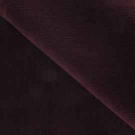Tissu velours milleraies élasthanne grenat x10cm