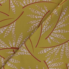By Penelope® Viscose Gabardine fabric - light khaki green Rosella x 10cm