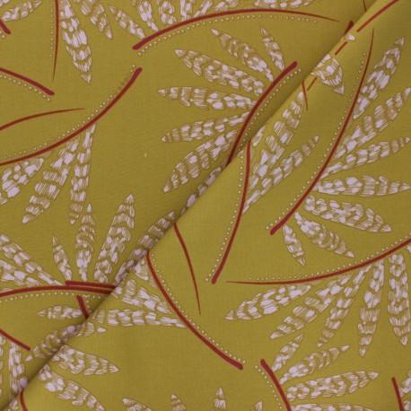 Tissu Gabardine Viscose Rosella BY PENELOPE® - Vert kaki clair x 10cm