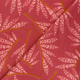 By Penelope® Viscose Gabardine fabric - red Rosella x 10cm
