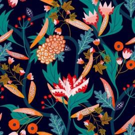 Tissu Rayonne Dashwood studio Gardenia A - bleu x 10cm