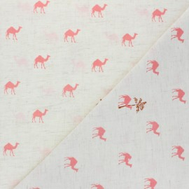 Light linen viscose fabric -  raw Dromadaires x 10cm