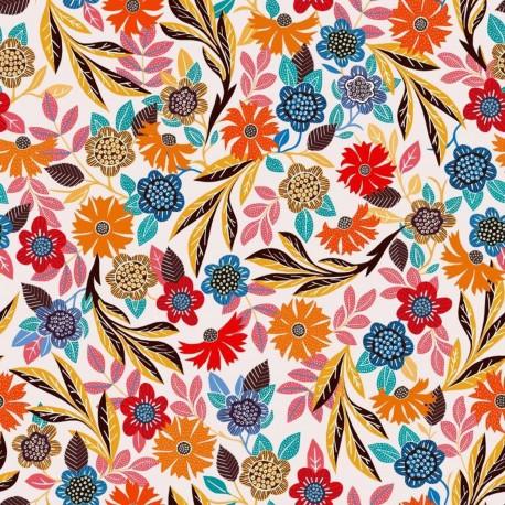 Dashwood studio rayon fabric - White Gardenia B x 10cm