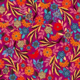 Dashwood studio rayon fabric - Purple Gardenia B x 10cm