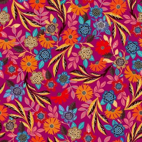 Dashwood studio rayon fabric - Purple Gardenia B x 10cm