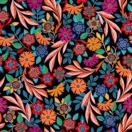 Tissu Rayonne Dashwood studio Gardenia B - noir x 10cm