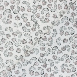 Light linen viscose fabric - raw Blackberry x 10cm