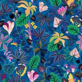 Tissu Rayonne Dashwood studio Gardenia C - bleu x 10cm
