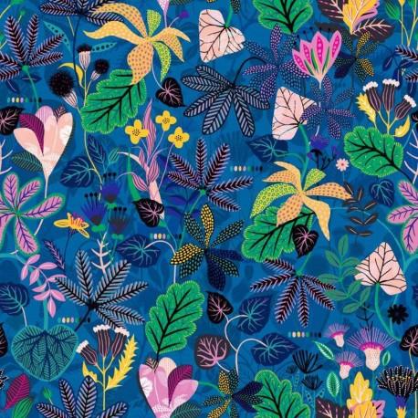 Dashwood studio rayon fabric - Blue Gardenia C x 10cm