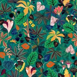 Tissu Rayonne Dashwood studio Gardenia C - vert x 10cm