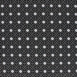 Tissu coton cretonne enduit Persia - noir x 10cm
