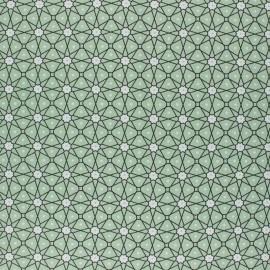 Coated cretonne cotton fabric - Almond Green Persia x 10cm