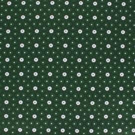 Coated cretonne cotton fabric - Pine green Persia x 10cm