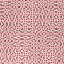 Coated cretonne cotton fabric - pink Persia x 10cm