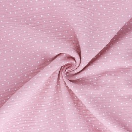 Poppy Double gauze fabric - light pink Little Dots x 10cm
