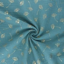 Poppy Double gauze fabric - eucalyptus Dandelion x 10cm