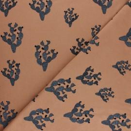 Bloome Copenhagen cotton jersey fabric - Sandstorm Black Cactus x 10 cm