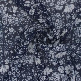 Tissu Mousseline lurex Plumetis Adlia - marine x 50cm